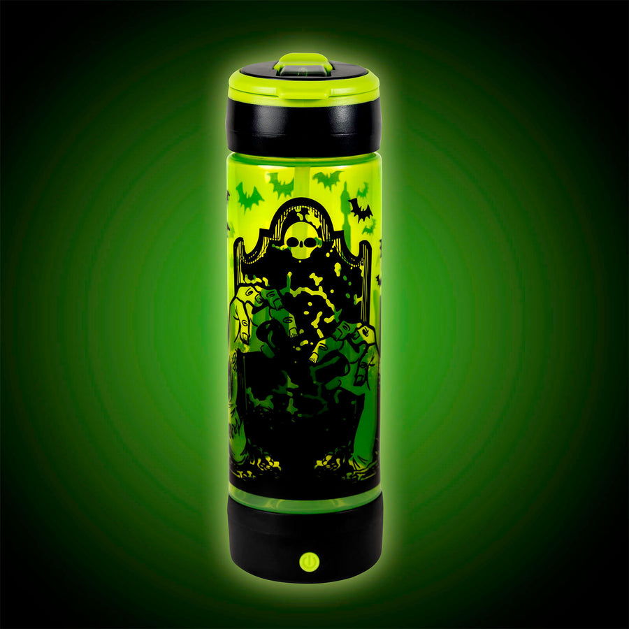 POP LIGHTS 24oz LIGHT UP GRAVEYARD Halloween Water Bottle:By Cool Gear