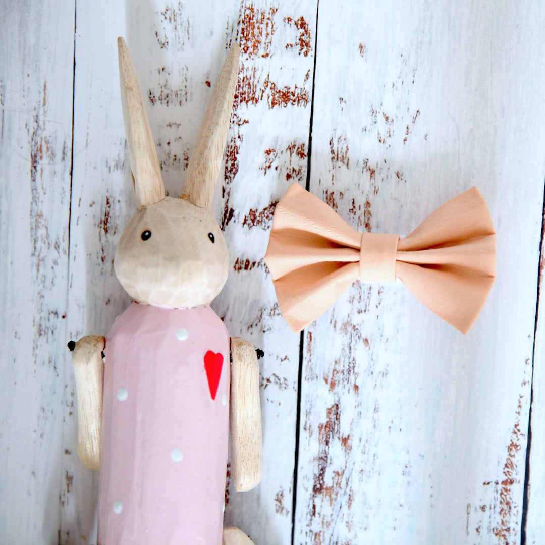 Peachy Dog Bow Tie - Pipps by Pippa