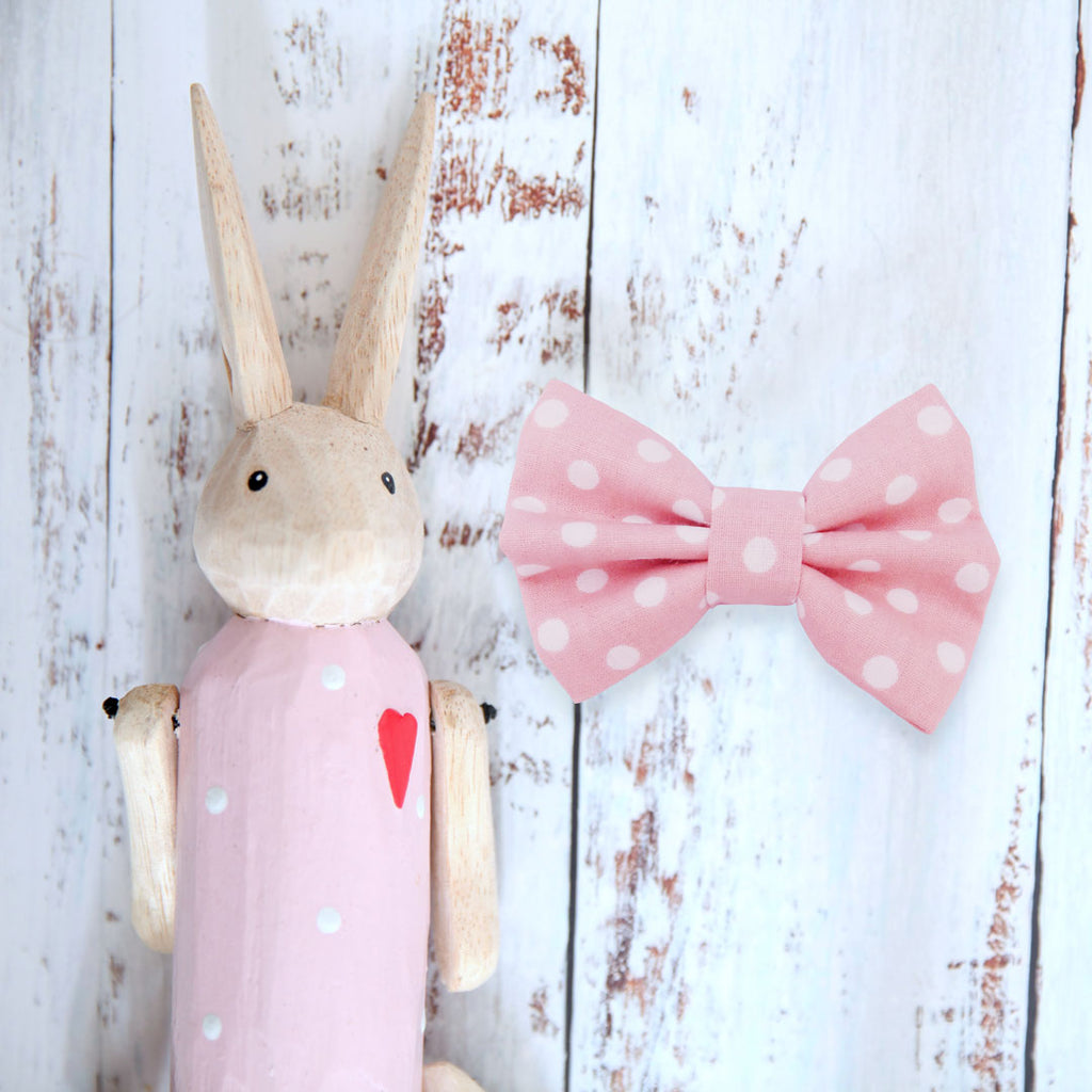 Pink Freckles Dog Bow Tie - Pipps by Pippa