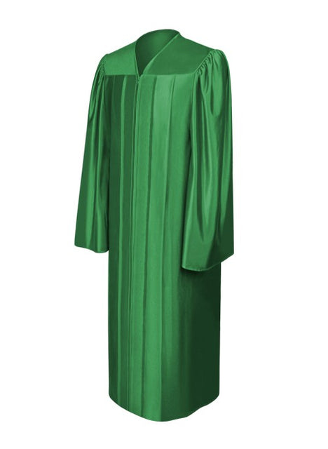 Toga verde brillante de universidad
