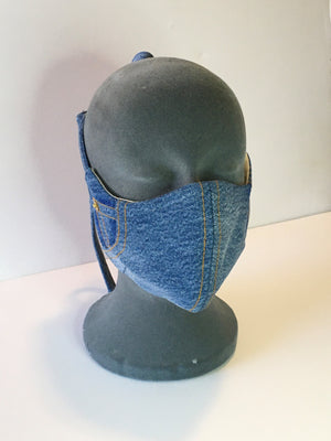 Dark denim mask