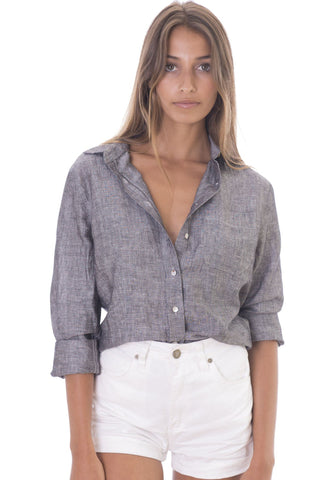Lina Off-White, Crushed Linen Shirt