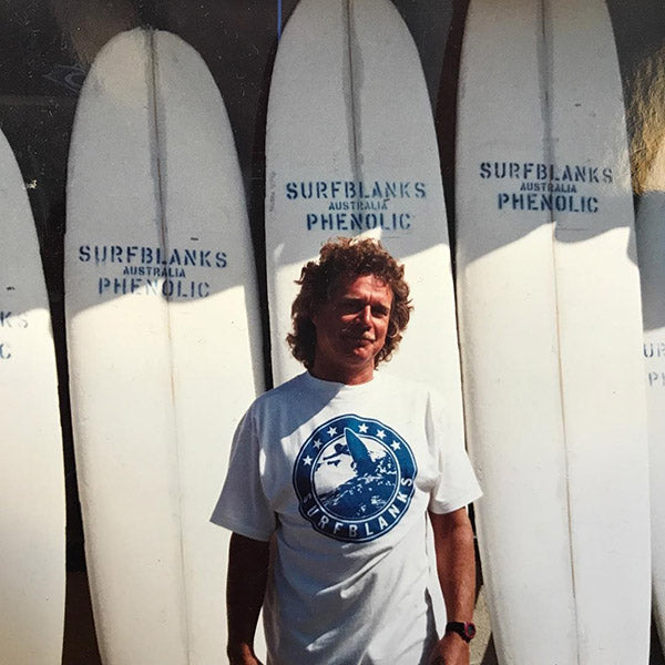 Midget Farrelly outside Surfblanks Australia
