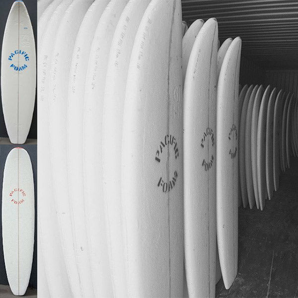 Pacific Foam: Same mould - same weight - different formula (left) & (right) Pacific Foam makes great longboard blanks too!