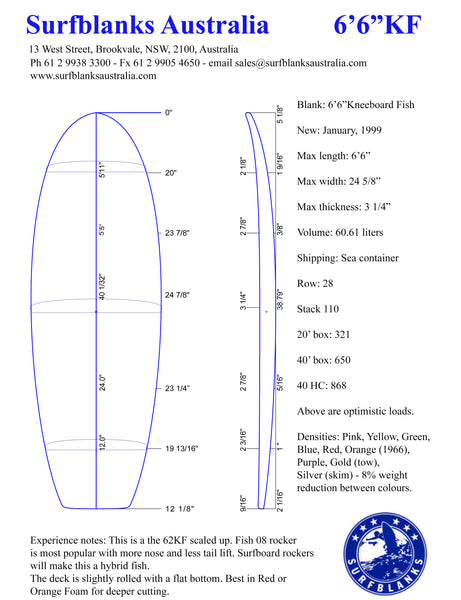 "6'6"" Kneeboard Fish"