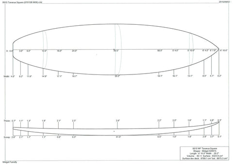 "6'10"" Tavarua Square Tail"