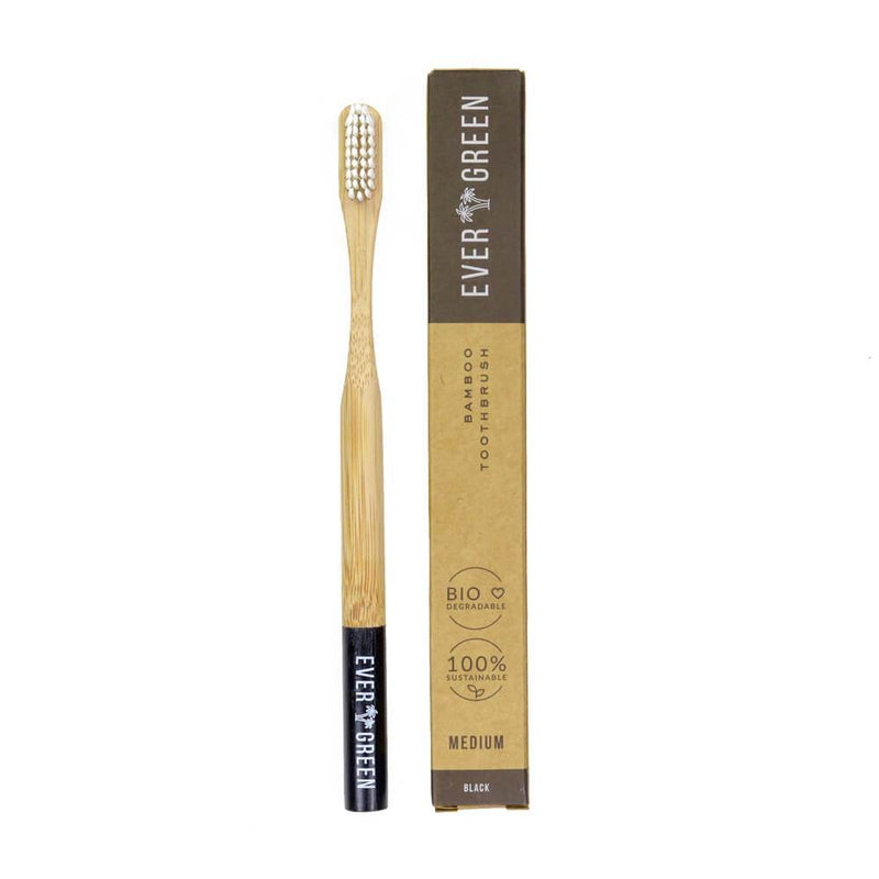 Evergreen Bamboo Toothbrushes - Black
