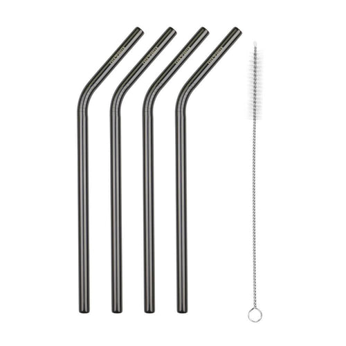 Evergreen Black Straws - Bent