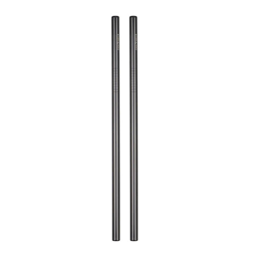 Evergreen Black Straws - Straight