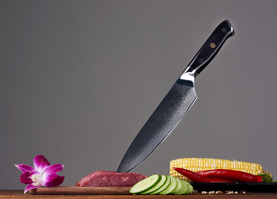 "8"" Professional Chef's Knife - 67 Layers Japanese VG10 Damascus Steel"