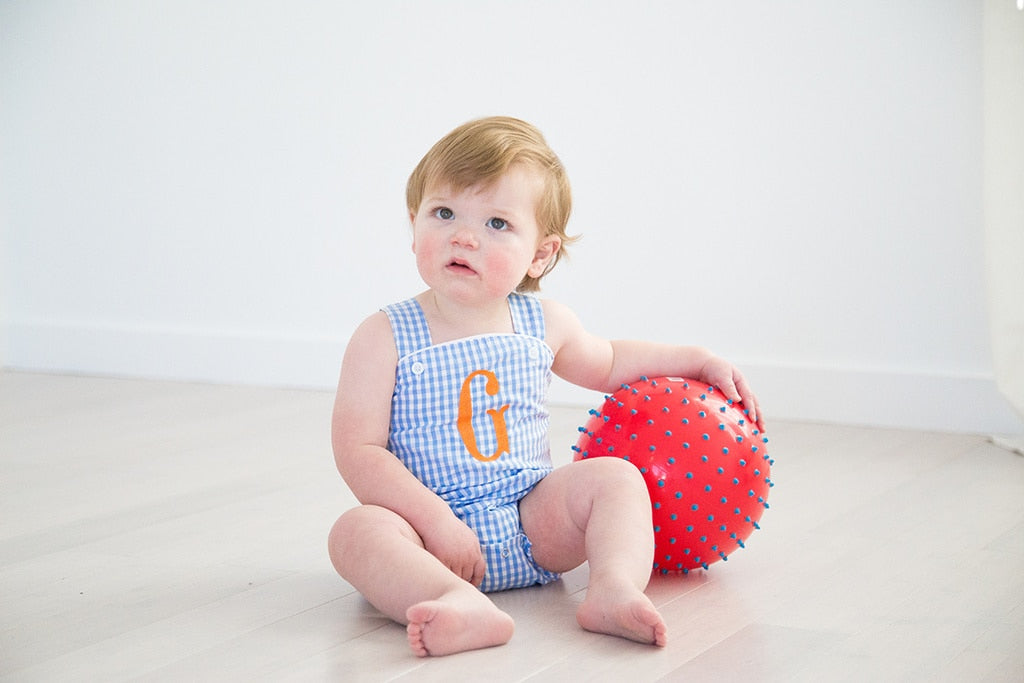 Baby Blue Gingham Bubble