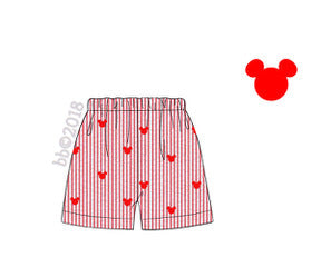 Mouse Embroidered Shorts