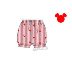 Mouse Embroidered Banded Shorts