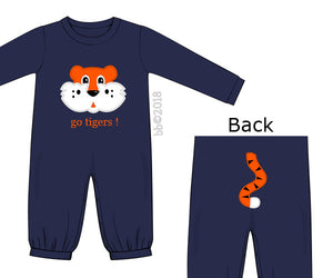 BB Collection Tiger Tail Unisex Knit Romper