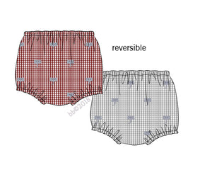 Reversible Embroidered Elephant Unisex Bloomers