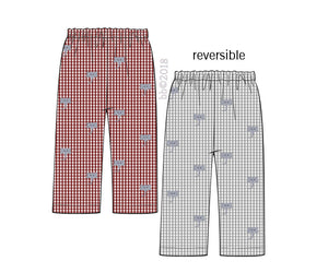 Reversible Embroidered Elephant BOY Pants Only