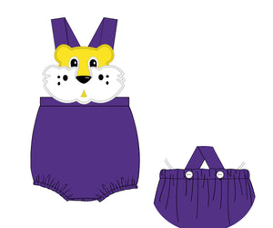 Special Order- Custom Purple/Yellow Tiger Sunsuit
