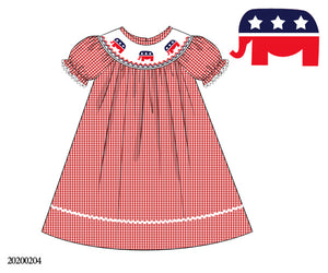 Republican Smocked Bishop Style Dress