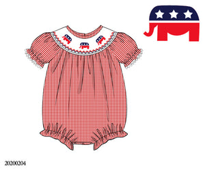 Republican Smocked Bishop Style Bubble