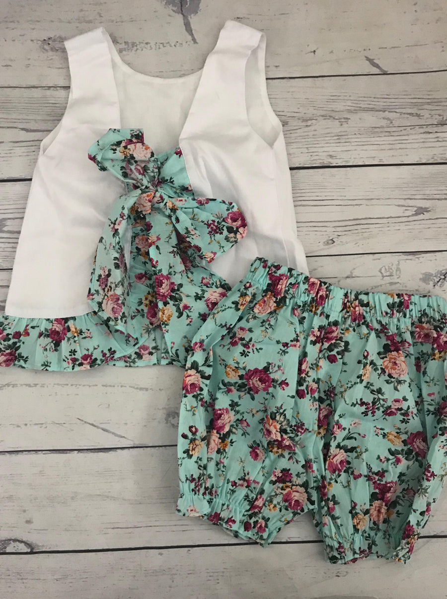 Resort Collection- Mint Floral Swing Set