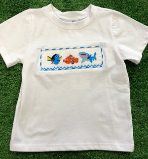 Nemo Inspired Smocked BOY TSHIRT ONLY
