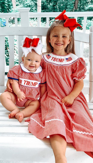 TRUMP Smocked Bishop Style Dress