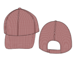 Crimson Gingham Hat