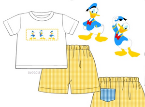 Donald Duck Inspired Smocked Tee