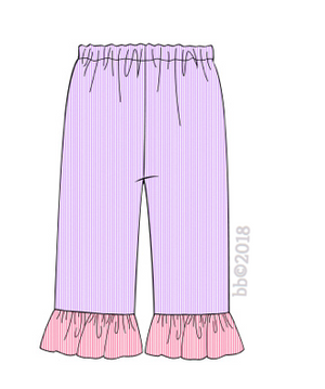 Daisy Inspired Lavender and Pink Pants