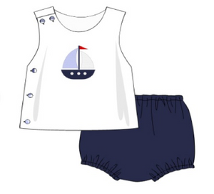 Resort: Sailboat BOY diaper set
