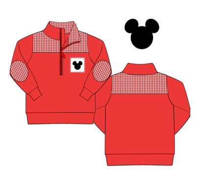 Mouse Collection: Smocked Mickey Knit Jacket- In stock