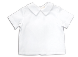 Classic White Pointed Collar Short Sleeve Shirt