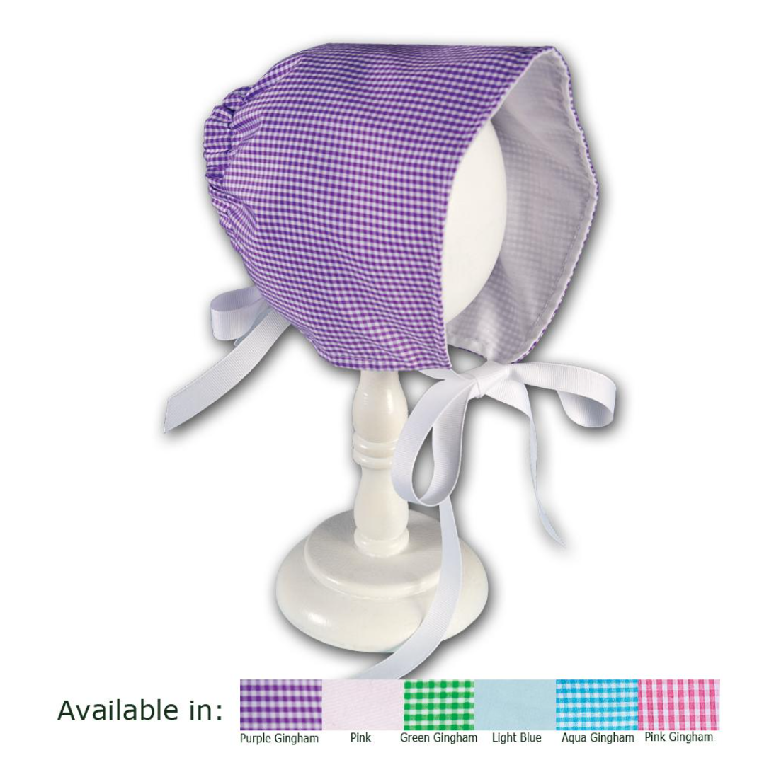 Classic NB Gingham Bonnet with Ribbons