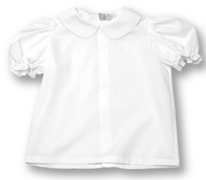 Blouse: White Puff Short Sleeve