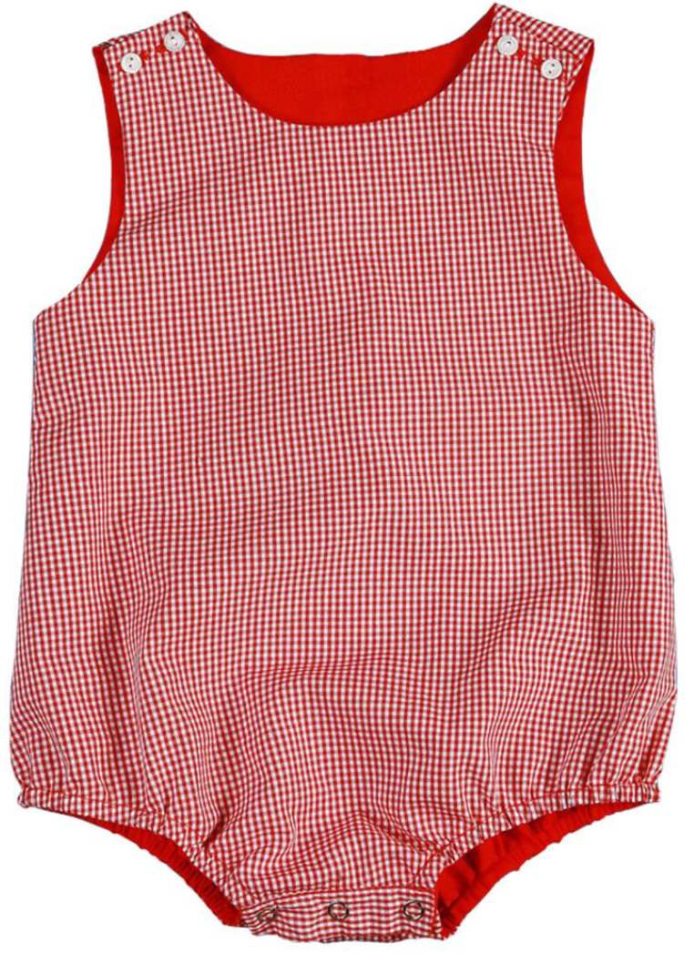 Classic Red Gingham Unisex Bubble