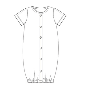 Blank: White Fabric BOY Day Gown