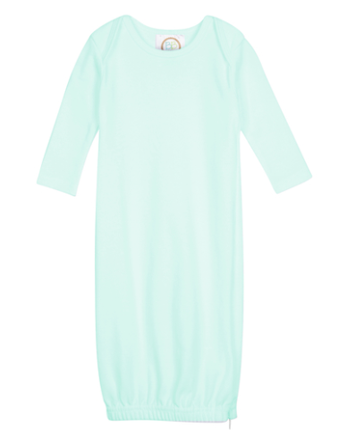 Baby: Mint Knit Unisex Gown with Monogram
