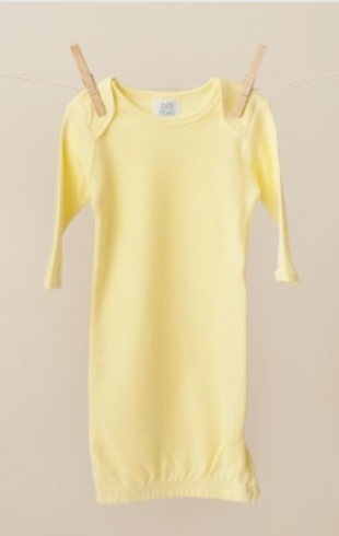 Baby: Yellow Knit Unisex Gown