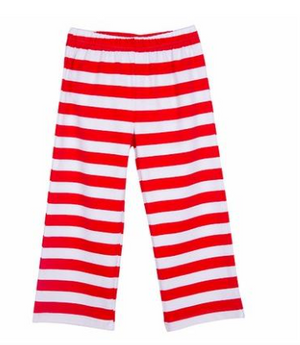 Classic Knit Red Stripe Pant