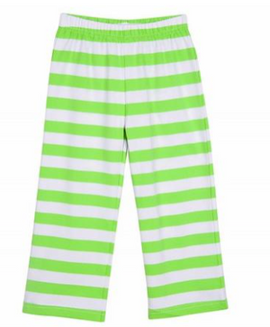 Classic Knit Lime Stripe Pant