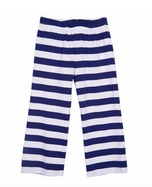 Classic Knit Navy Stripe Pant