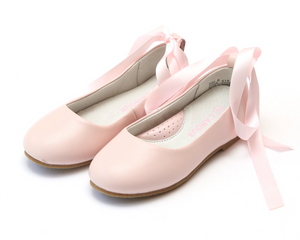 Shoes: L'Amour Lace Up Ballet Flat: Pink