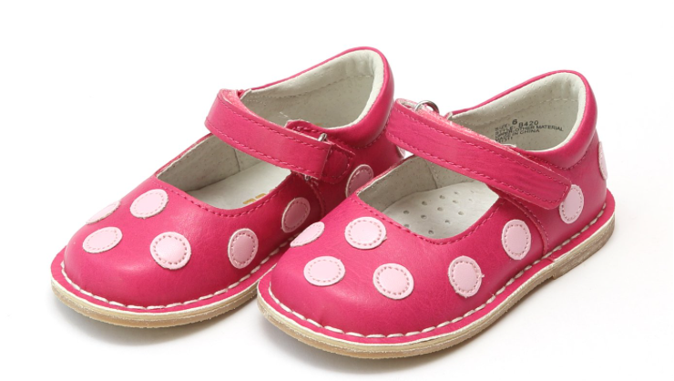 Shoes: L'Amour Pink Dot Mary Janes