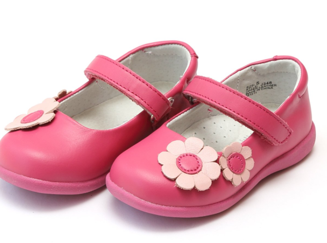 Shoes: L'Amour Hot Pink Flower Mary Janes