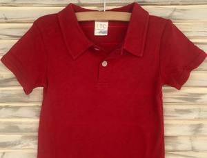 Red Polo Short Sleeve Shirt