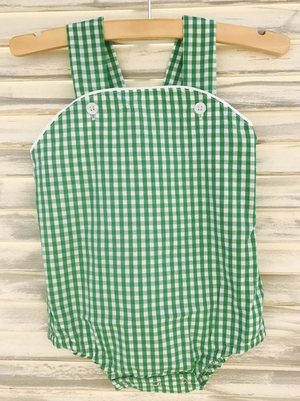 Green Gingham Bubble