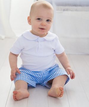 Baby Blue Gingham Shorts