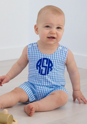 Baby Blue Gingham Shortall