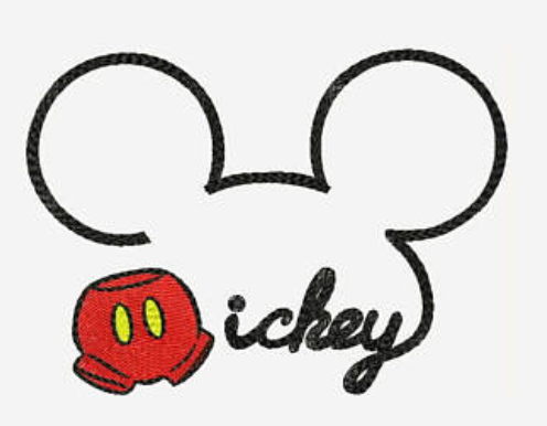 Embroidery Add On: Cursive Mickey