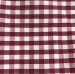 Maroon Gingham Straight Pants